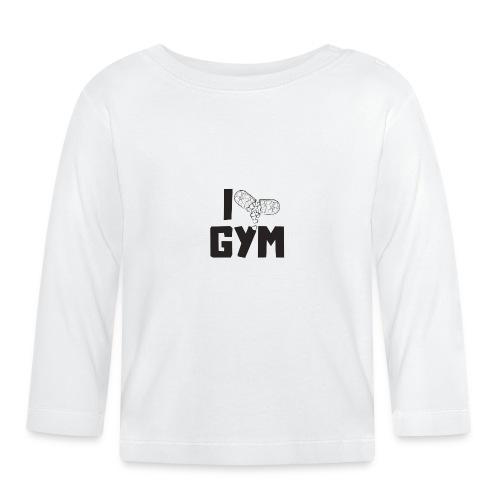 I LOVE GYM - Koszulka niemowlęca z długim rękawem