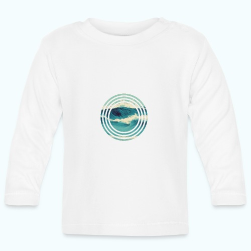 Wave vintage watercolor - Baby Long Sleeve T-Shirt