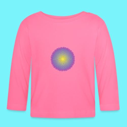 Fibonacci based image with radiating elements - Baby Long Sleeve T-Shirt