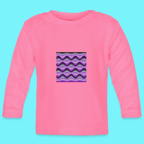 Sine waves in red and blue - Baby Long Sleeve T-Shirt