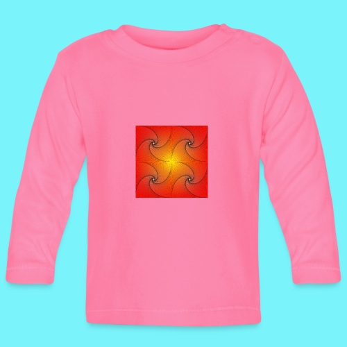 Pursuit curve in red and yellow - Baby Long Sleeve T-Shirt