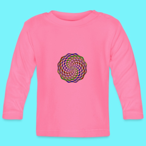 Mandala in rainbow colours - Baby Long Sleeve T-Shirt