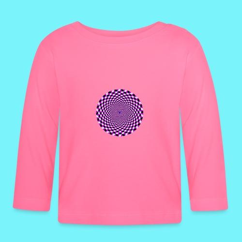 Mandala figure from rhombus shapes - Baby Long Sleeve T-Shirt