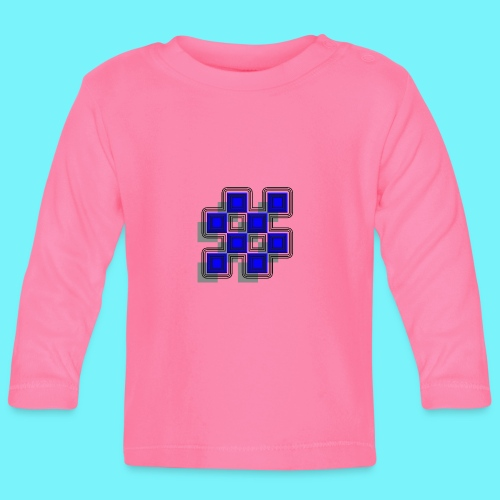 Blue Blocks with shadows and perimeters - Baby Long Sleeve T-Shirt
