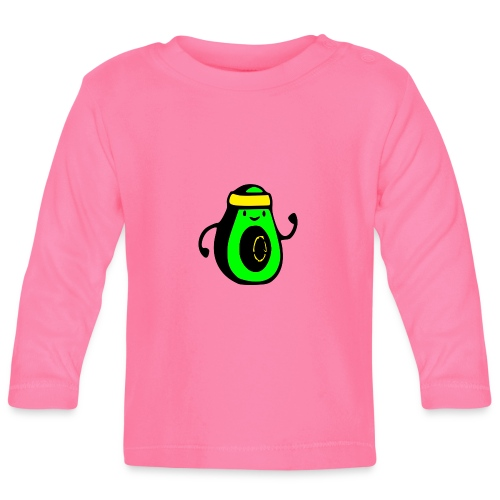 aguacate ninja - Camiseta manga larga bebé