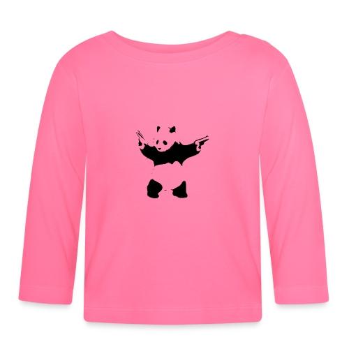 oso panda pistolas - Camiseta manga larga bebé