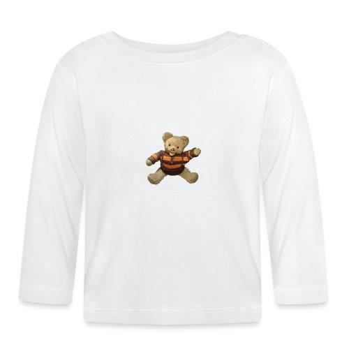 Teddybär - orange braun - Retro Vintage - Bär - Baby Langarmshirt