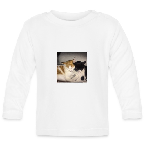Schlafende Kätzchen - Baby Langarmshirt