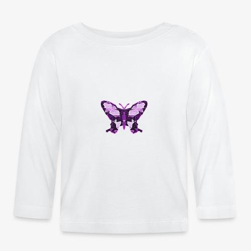 Fioletowy motyl - Koszulka niemowlęca z długim rękawem