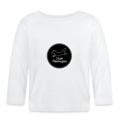 pilvimarjanlogomustaa - Vauvan pitkähihainen paita