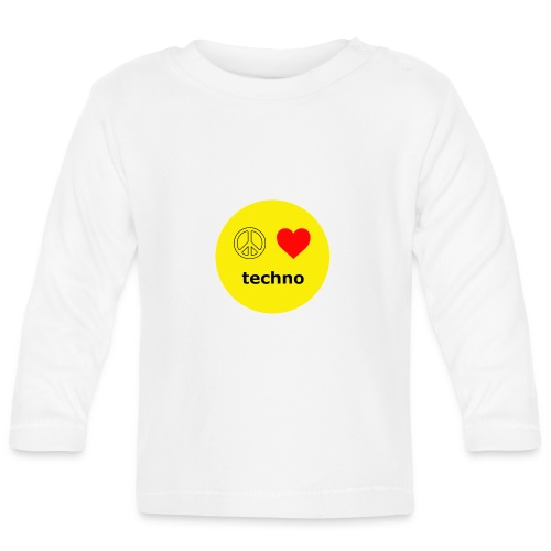 paz amor techno - Camiseta manga larga bebé