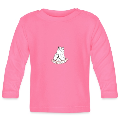 OK Boomer Cat Meme - Baby Long Sleeve T-Shirt