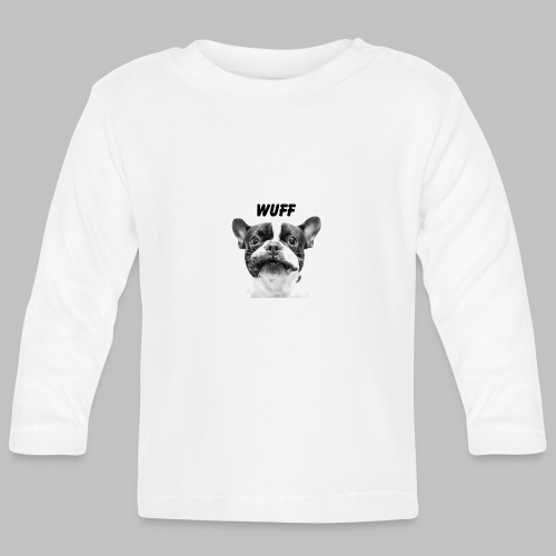 Wuff - Hundeblick - Hundemotiv Hundekopf - Baby Langarmshirt