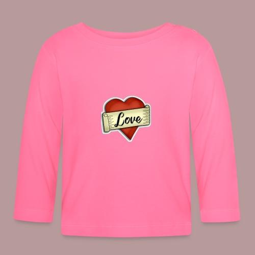 Love cœur tatouage - T-shirt manches longues Bébé