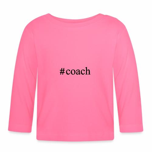 Black Coach Hashtag - Baby Langarmshirt
