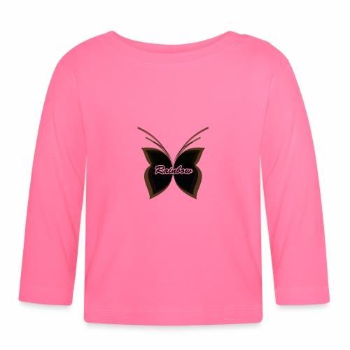 Black Butterfly Rainbow - Baby Langarmshirt