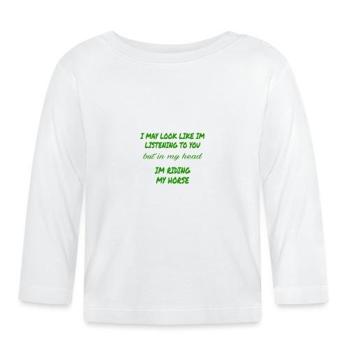 Riding my horse green - Långärmad T-shirt baby