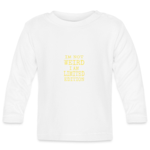 Weird yellow - Långärmad T-shirt baby