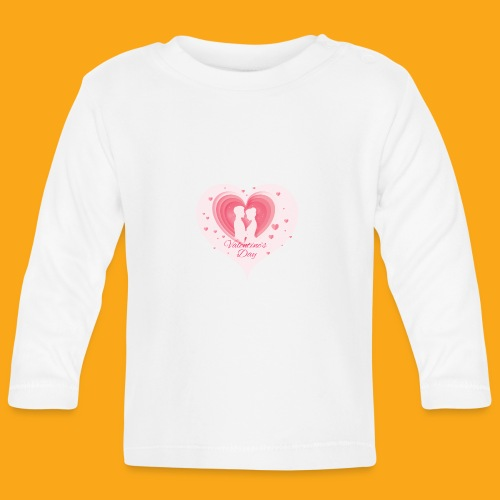 Valentinstag - Baby Langarmshirt
