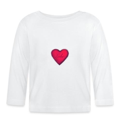 liebe, ist Freundlichkeit zwischen den Menschen - Baby Langarmshirt