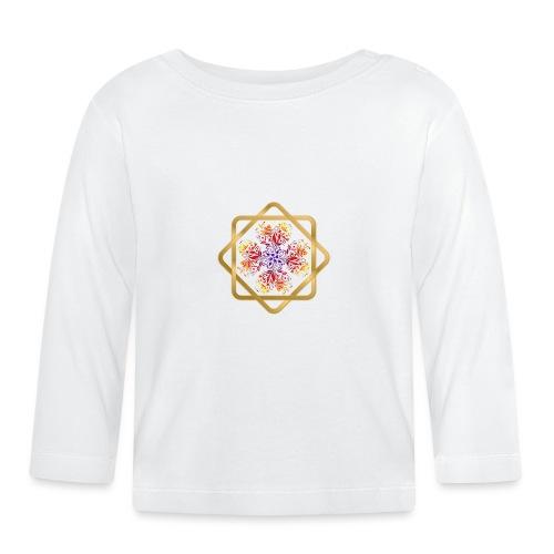 Kleeblatt aus Herzen Octagram - Glück Liebe Sicher - Baby Langarmshirt