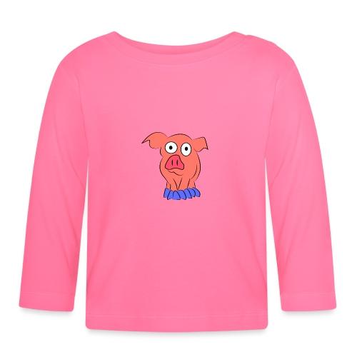 pink pig - Maglietta a manica lunga per bambini