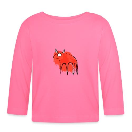 tribal red cow - Maglietta a manica lunga per bambini