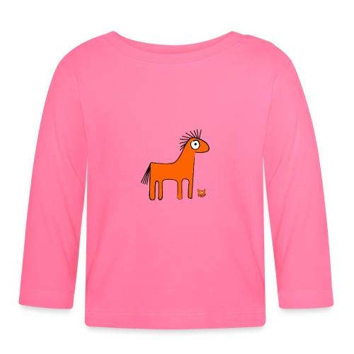 orange horse - Maglietta a manica lunga per bambini