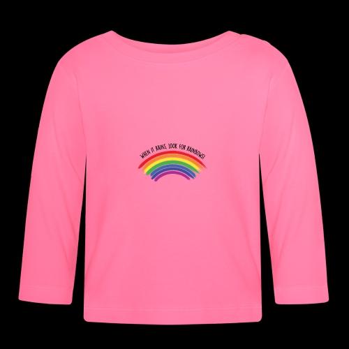 When it rains, look for rainbows! - Colorful Desig - Maglietta a manica lunga per bambini