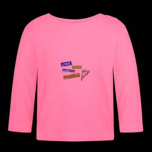 Pizza makes anything possible! - Colorful Design - Maglietta a manica lunga per bambini