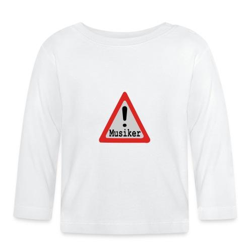 vorsicht achtung musiker - Baby Langarmshirt