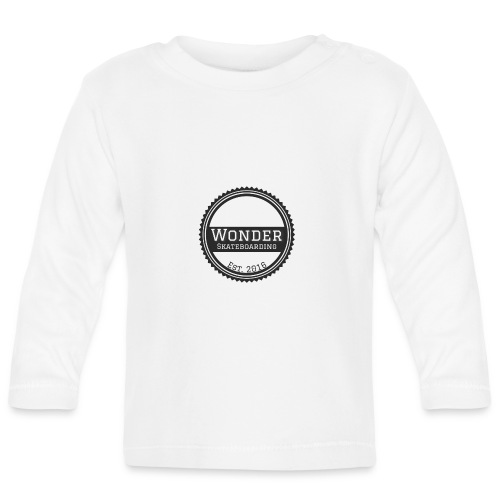 Wonder unisex-shirt round logo - Langærmet babyshirt