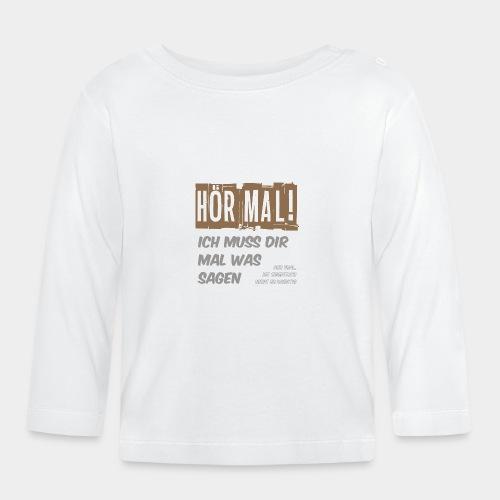 GHB Ist nicht so wichtig 06112017 4 - Baby Langarmshirt