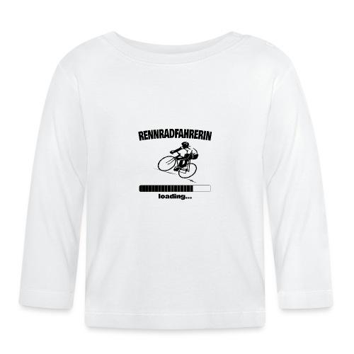 Rennradfahrerin loading... Baby Motiv - Baby Langarmshirt