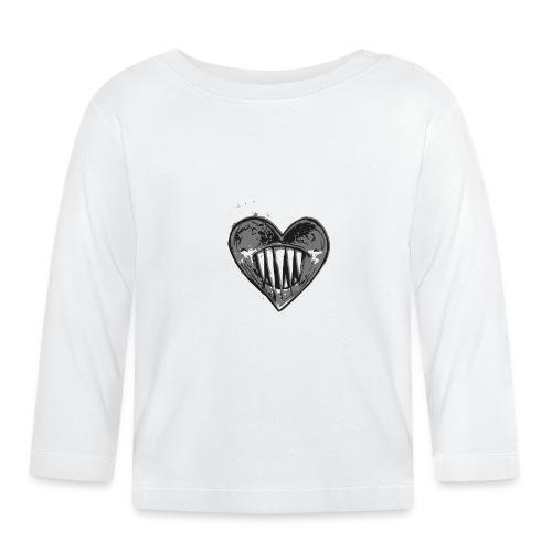 Corazón Negro - Camiseta manga larga bebé
