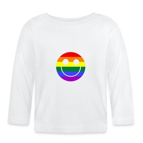 Regenbogen Smilie 1 - Baby Langarmshirt