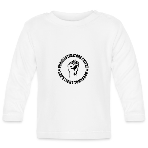 Procrastinators united - Baby Long Sleeve T-Shirt