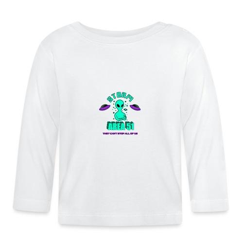 Storm Area 51 Memes - See Them Aliens Area 51 Raid - Baby Long Sleeve T-Shirt