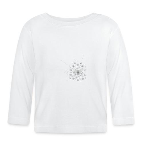 Schlicht und modernes Muster - Baby Langarmshirt