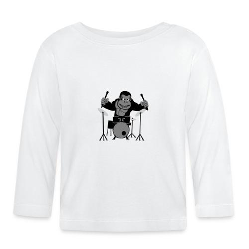 Drumming Gorilla - Baby Long Sleeve T-Shirt