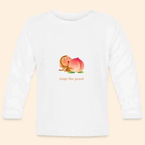 Monkey Keep the peach - T-shirt manches longues Bébé