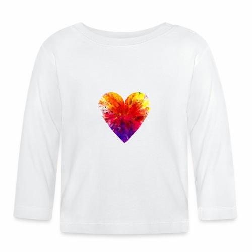 Herz Kristall - Baby Langarmshirt