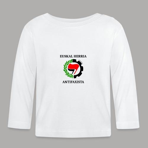 EH antifaxista pour fond clair - T-shirt manches longues Bébé