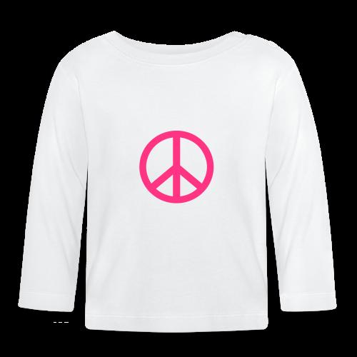 Gay pride peace symbool in roze kleur - T-shirt