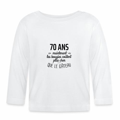 70 ans bougies gâteau - T-shirt manches longues Bébé
