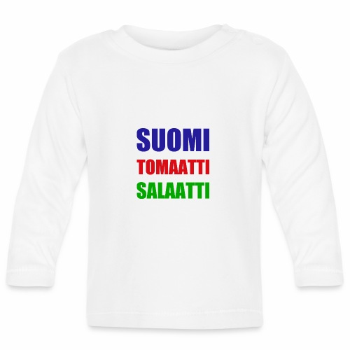 SUOMI SALAATTI tomater - Langarmet baby-T-skjorte