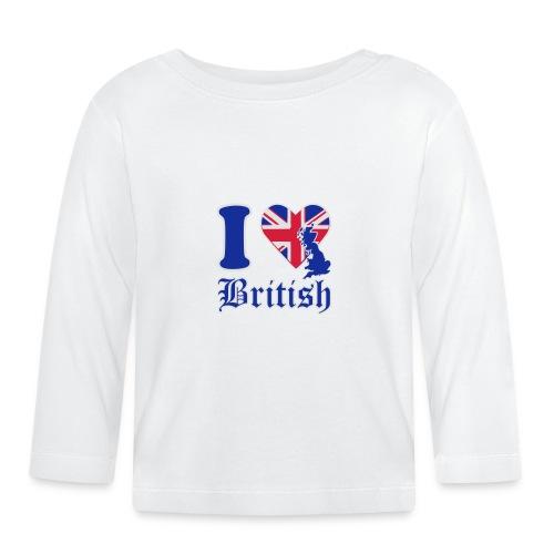 i love british - Baby Langarmshirt