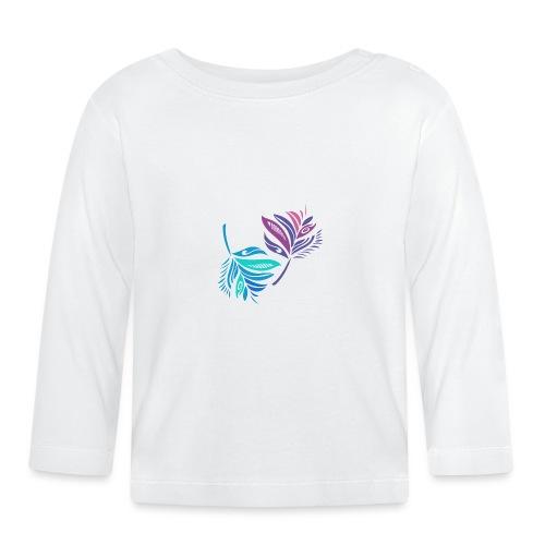 foglie geometriche - Maglietta a manica lunga per bambini