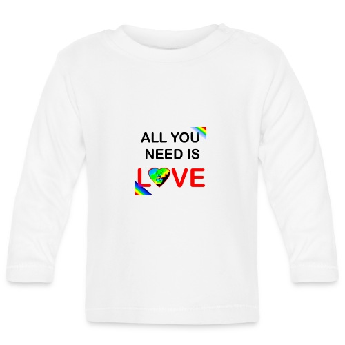 all you need is peace and love - T-shirt manches longues Bébé