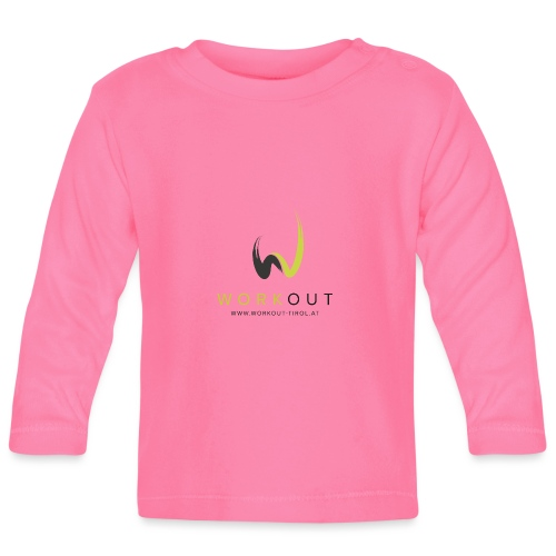 Workout Color mit Url - Baby Langarmshirt
